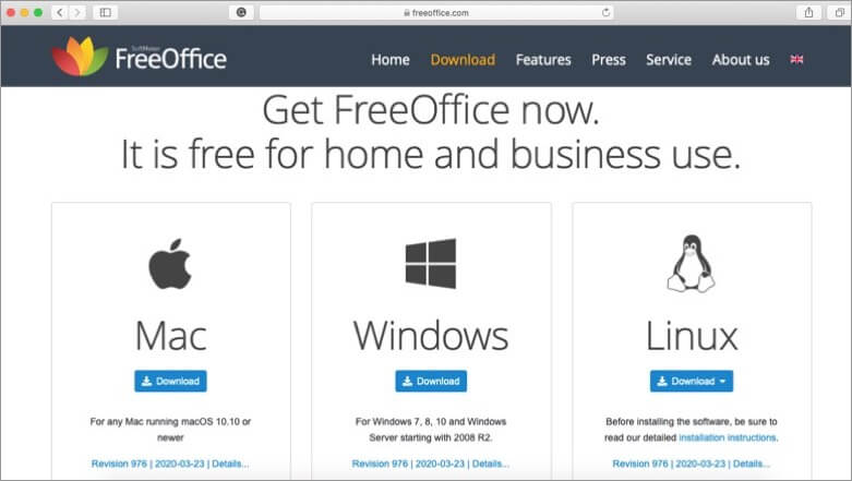 Download FreeOffice for Mac