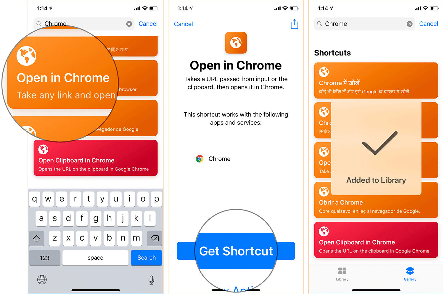 Download Open in Chrome Shortcut on iPhone or iPad