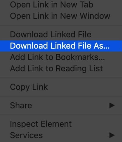 Download PDF Files from a Link in Safari