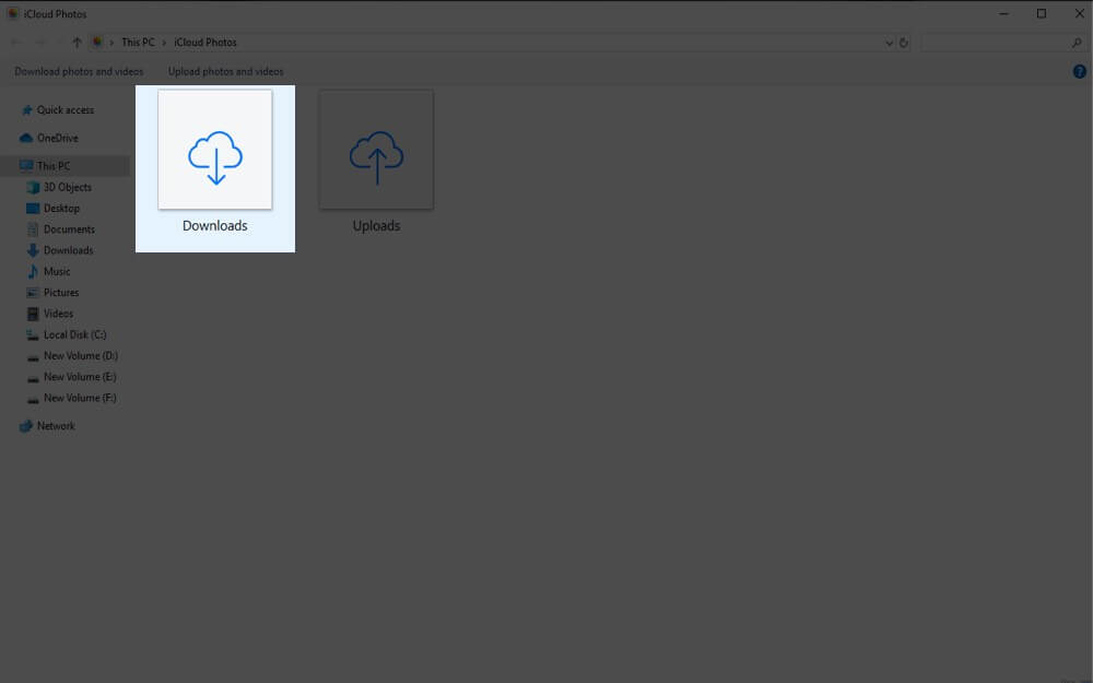 Download Photos to Windows PC from iCloud