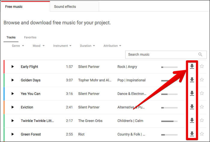 Download Royalty Free Music from YouTube