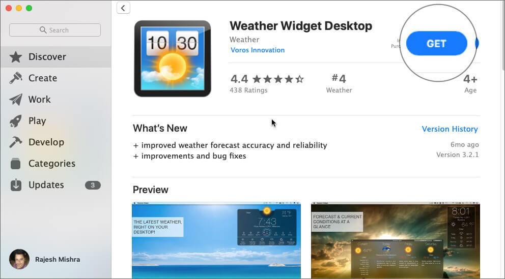 Download Weather Widget Desktop on your Mac