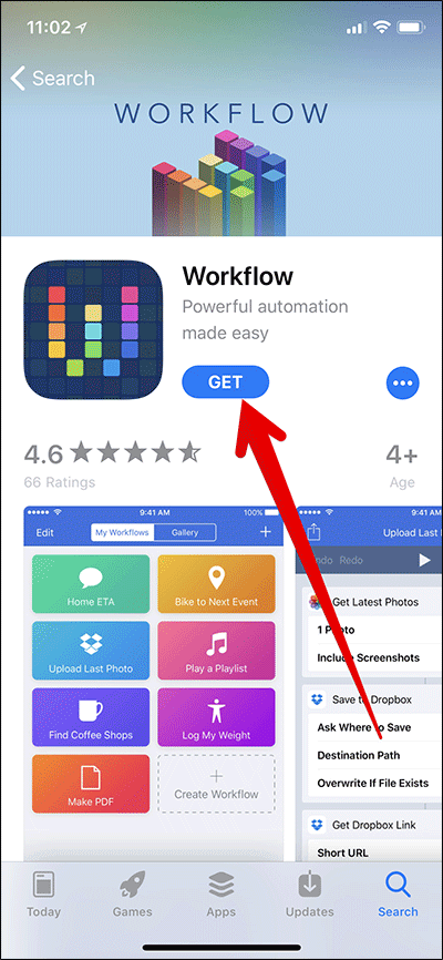 Download Workflow App on iPhone or iPad