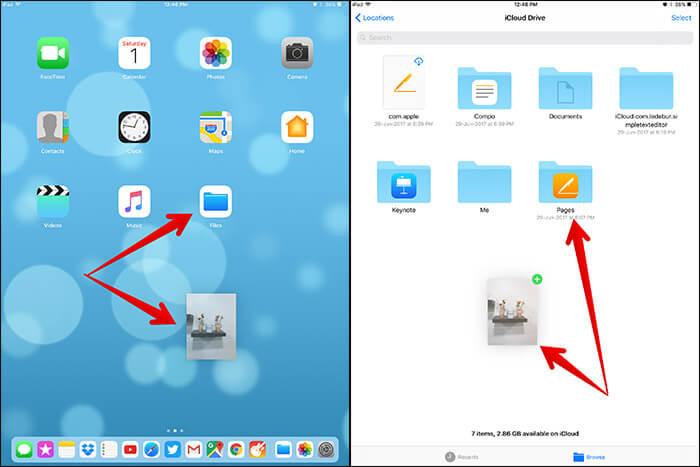 Drag and Drop File in iOS 11 on iPad