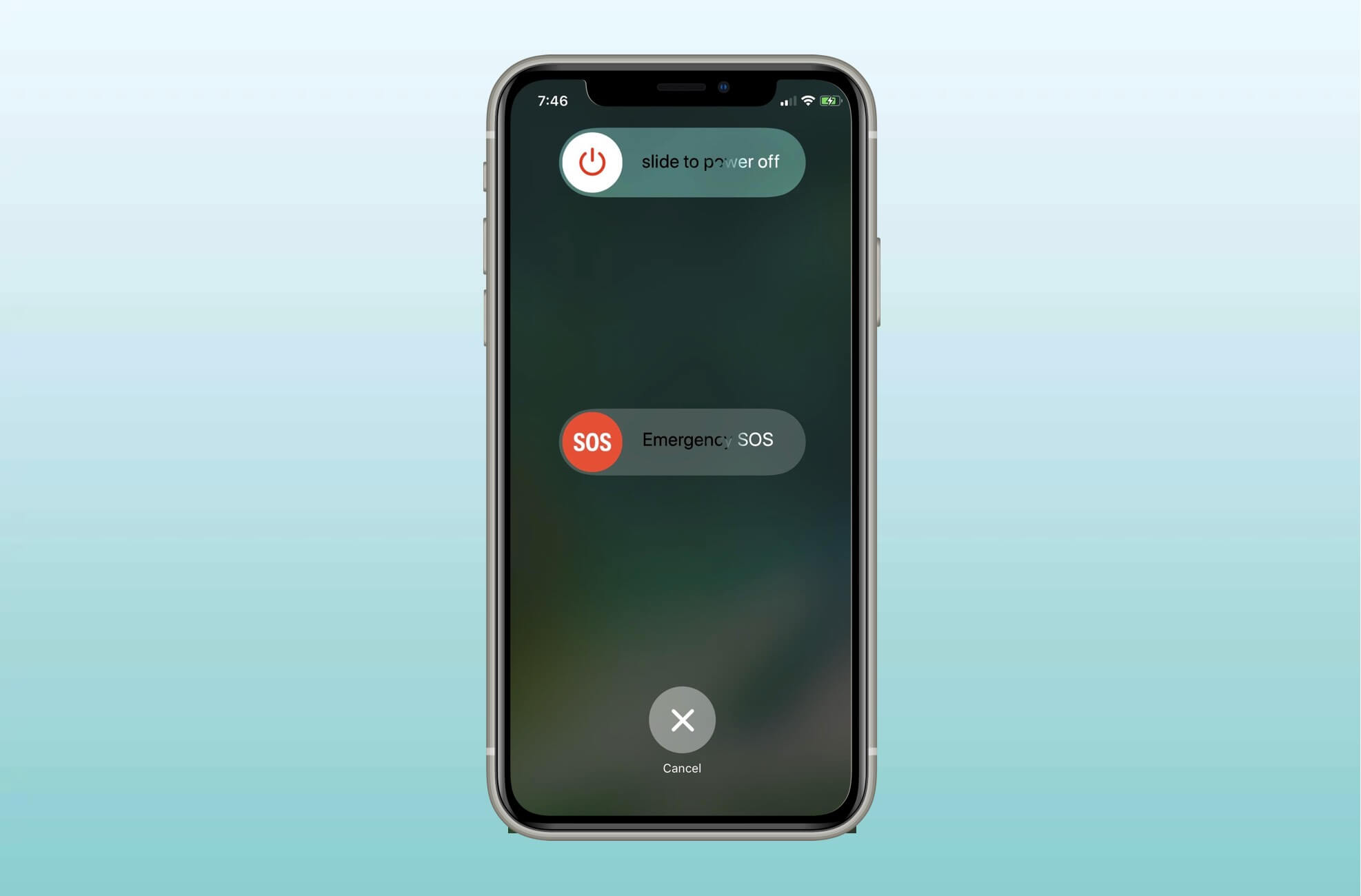 Drag the slider to Turn Off iPhone 11
