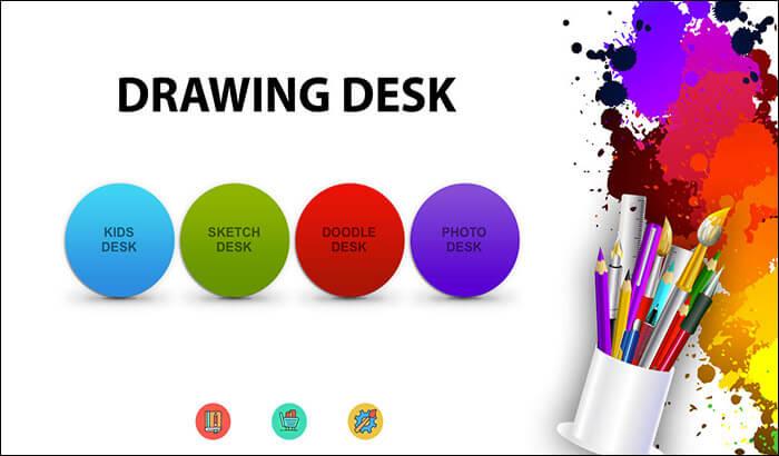 Drawing Desk iPhone and iPad App Screenshot