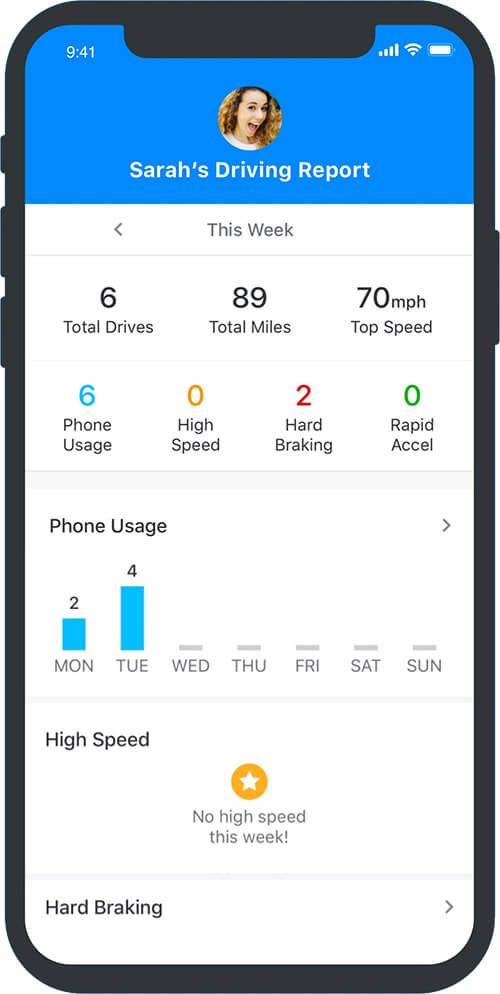 Driving Report Feature of ADT Go iOS App