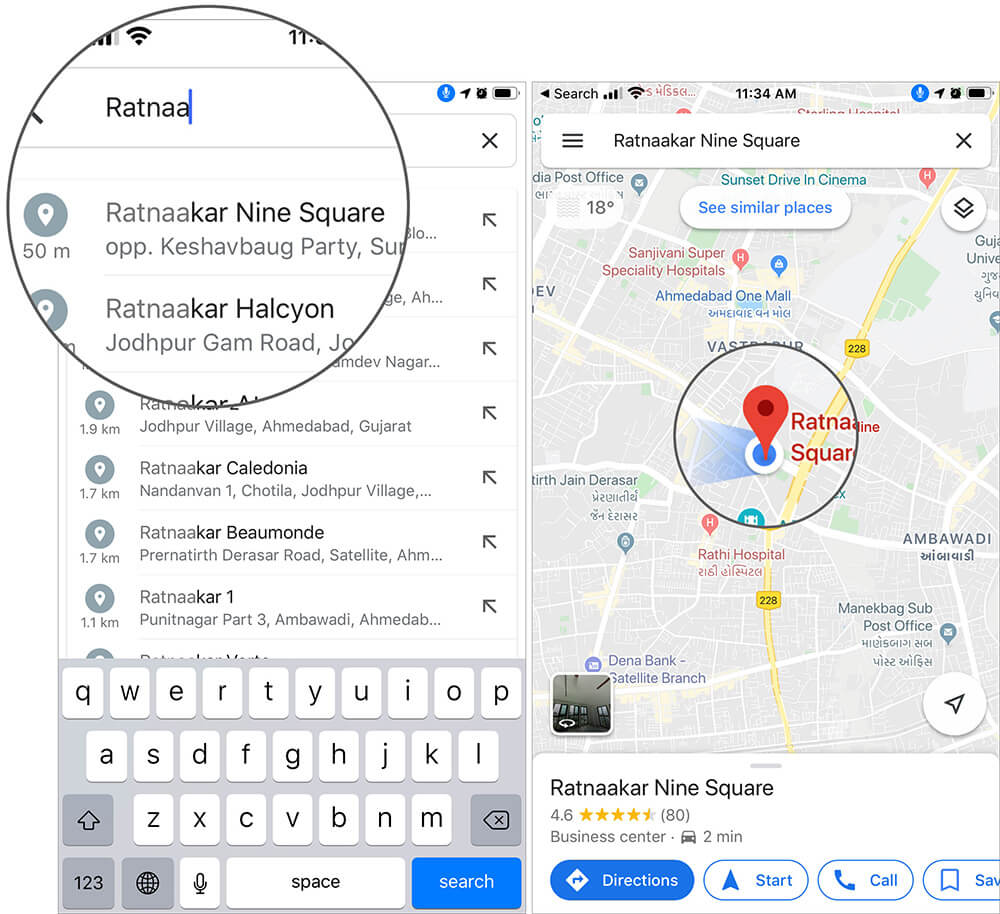 Drop a Pin in Google Maps on iPhone