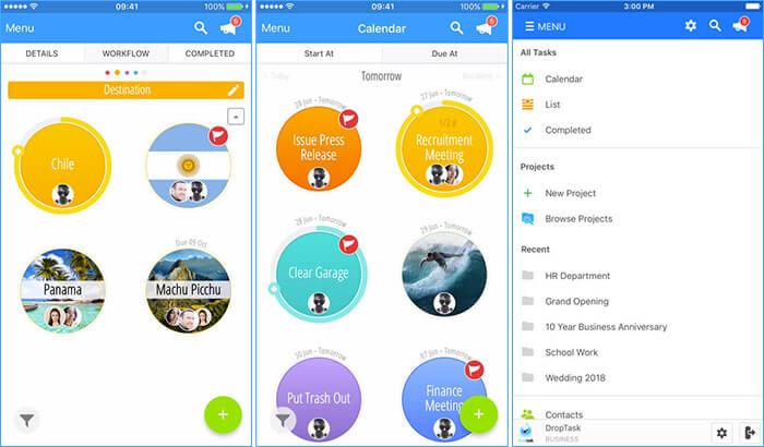 DropTask iPhone and iPad App Screenshot