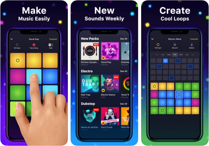 Drum Pad Machine iPhone and iPad App Screenshot