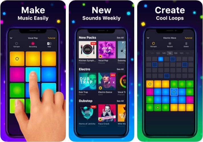 Drum Pad Machine iPhone and iPad Hip Hop App Screenshot