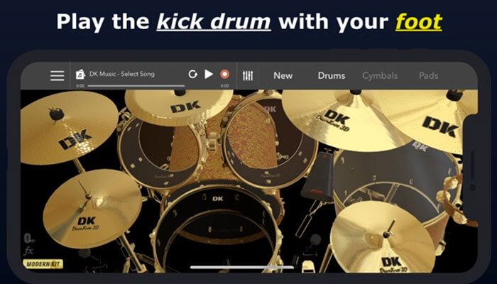 DrumKnee iPhone and iPad App Screenshot