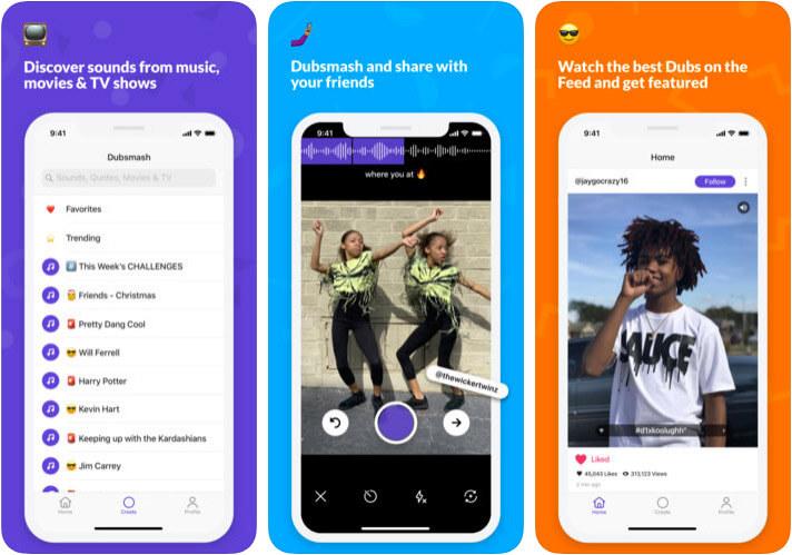 Dubsmash iPhone and iPad App Screenshot