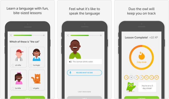 Duolingo iPhone and iPad App Screenshot