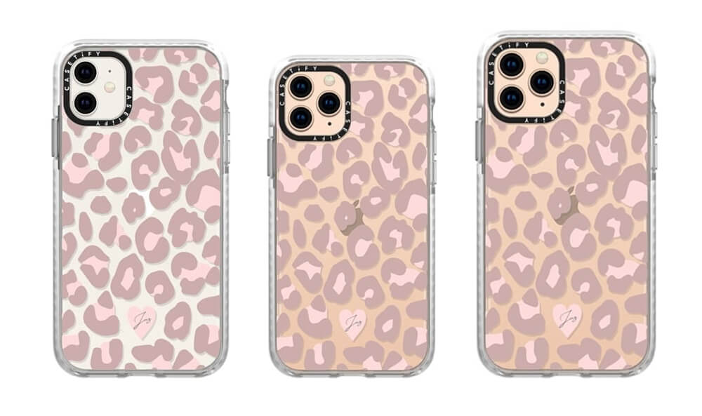 Dusty Pink Leopard Pattern Case for iPhone 11 Pro Max from Casetify