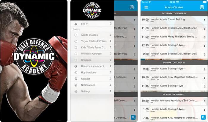 Dynamic Self Defence Academy iPhone and iPad App Screenshot