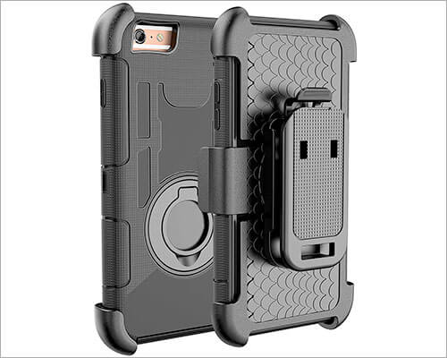 E LV Belt Clip Holster Case for iPhone 6s Plus