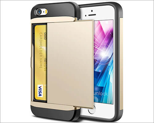ELOVEN iPhone 5, 5s, and iPhone SE Wallet Bumper Case