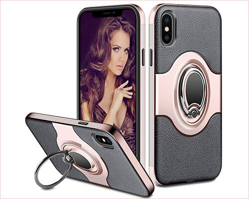 ELOVEN iPhone Xs Ring Holder Case