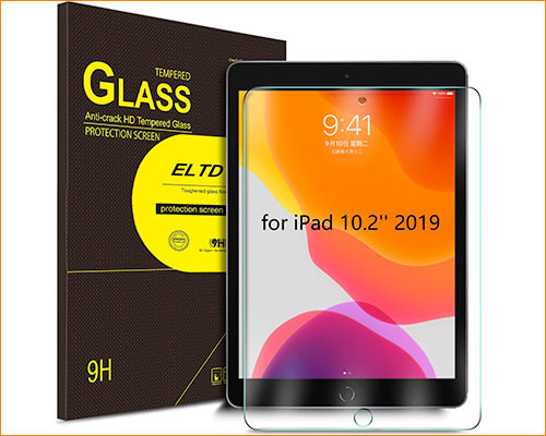 ELTD Tempered Glass Screen Protector for iPad 10.2-inch