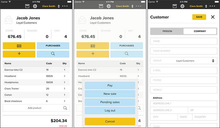 ERPLY iPhone and iPad POS App Screenshot