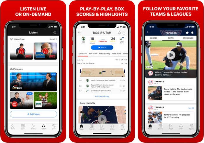 ESPN iPhone and iPad App Screenshot