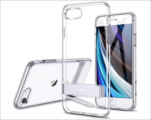 ESR Clear Metal Kickstand Case for iPhone SE 2020