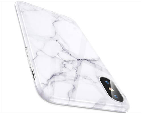ESR Marble Slim Soft Case for iPhone X