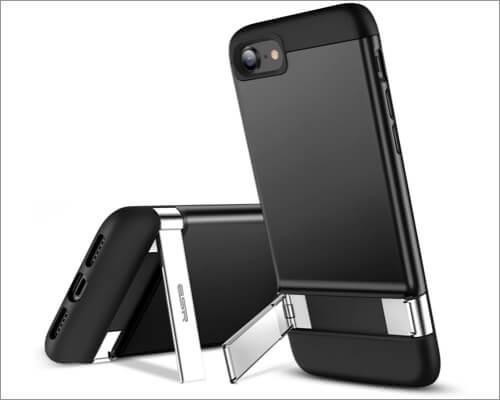 ESR Soft Back Metal Kickstand Case for iPhone SE 2020