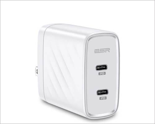 ESR iPhone 11 2 Port USB C Charger