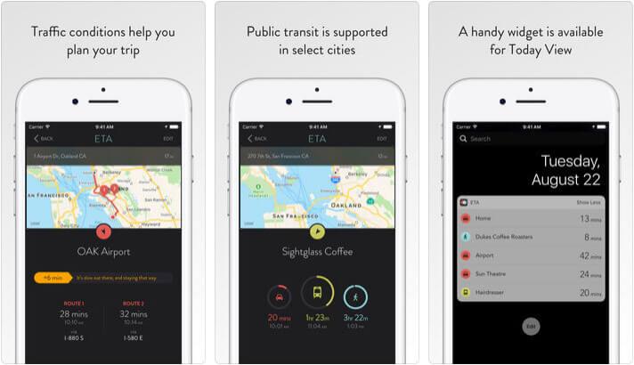 ETA Arrive on time iPhone and Apple Watch App Screenshot