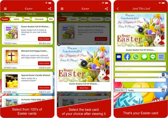 Easter Cards and Wishes iPhone and iPad App Screenshot