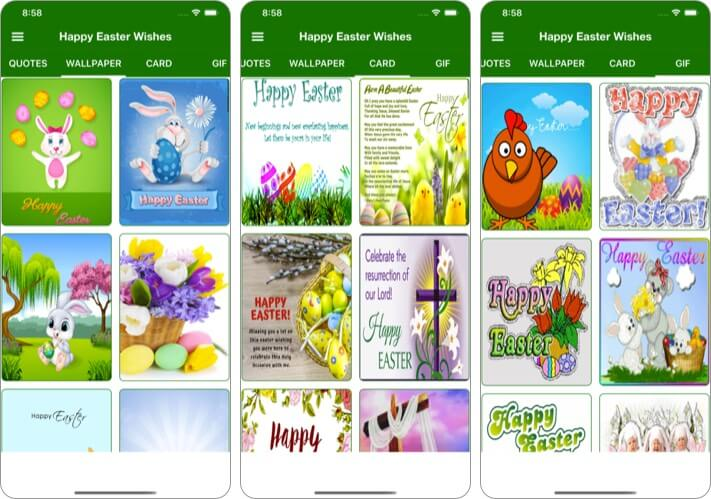 Easter Wishes Card & Wallpaper iPhone and iPad App Screenshot