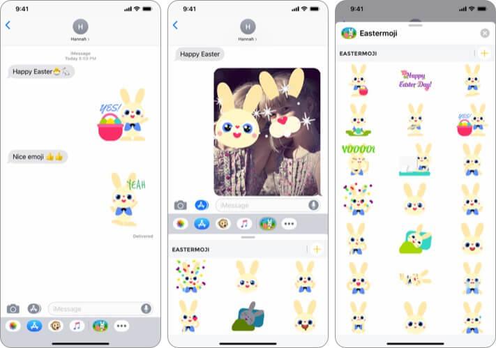 Eastermoji iPhone and iPad App Screenshot