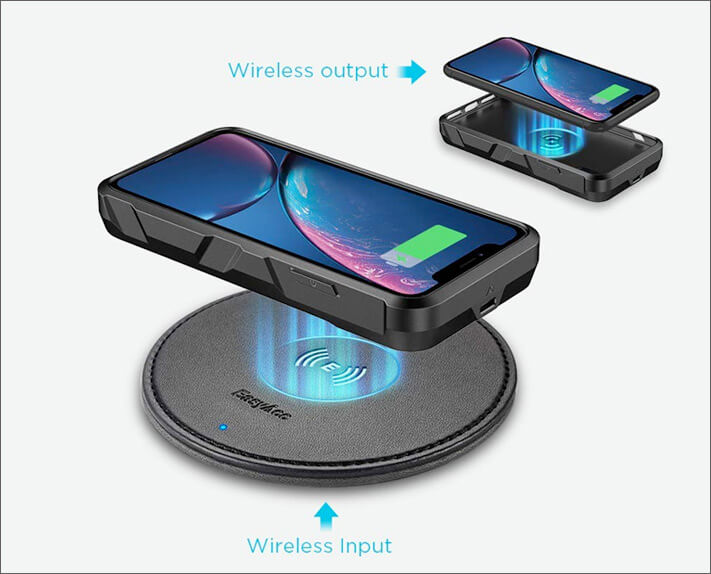 EasyAcc iPhone XR Battery Case with Wireless Charging Support