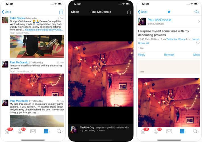 Echofon iPhone and iPad App Screenshot