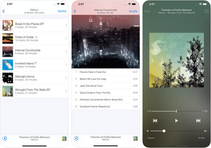 Ecoute iPhone and iPad Music App Screenshot