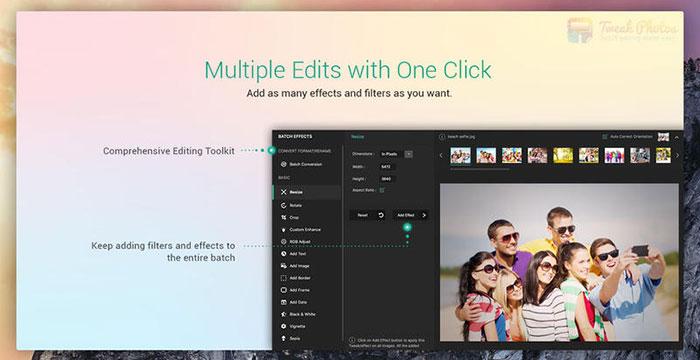 Edit Batch Photo with Tweak Photos