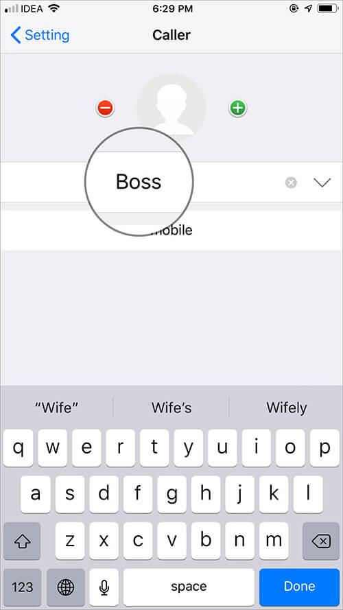 Edit Fake Caller Name in iPhone Fake Call Plus App