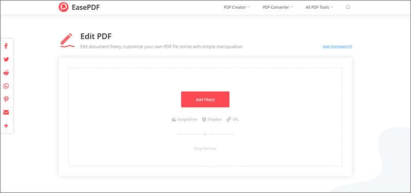 Edit PDF Online with EasePDF Converter