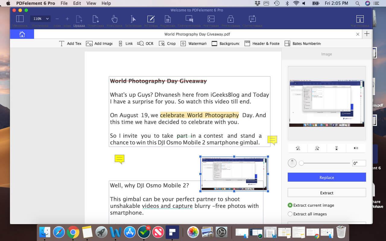 Edit PDF on Mac using PDFElement Pro