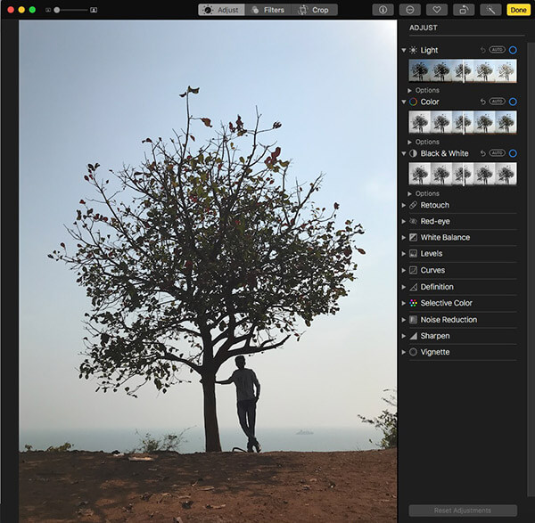 Edit Photo for Photo Book on Mac