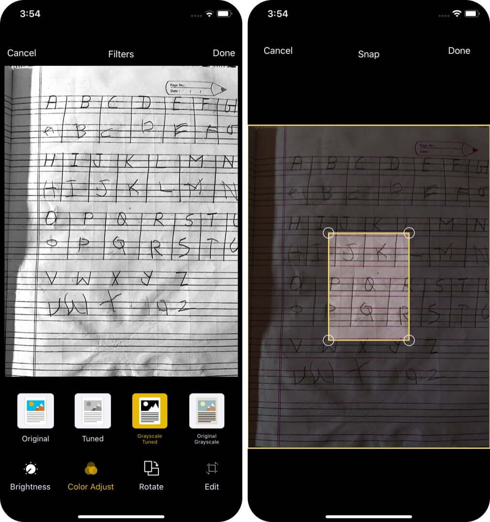 Edit Scanned Documents on iPhone or iPad