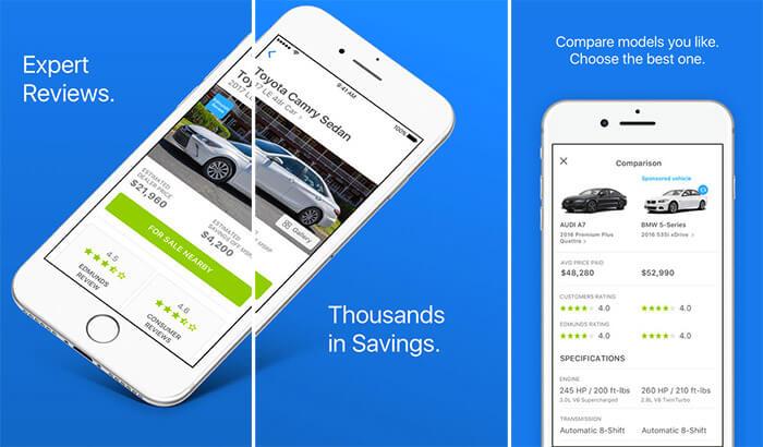 Edmunds iPhone and iPad Car Buying App Screenshot