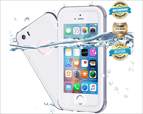 Effun Waterproof Case for iPhone SE, 5s, and iPhone 5