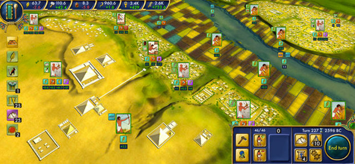 Egypt Old Kingdom iPhone and iPad Turn Based Strategy Game Screenshot
