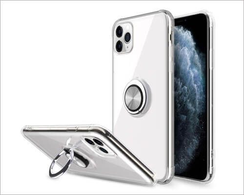 Elegant Hybrid Clear Kickstand Case for iPhone 11 Pro Max