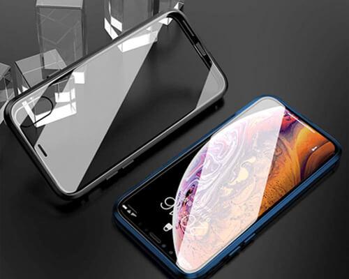 Elewelt iPhone XR Magnets Metal Bumper Case