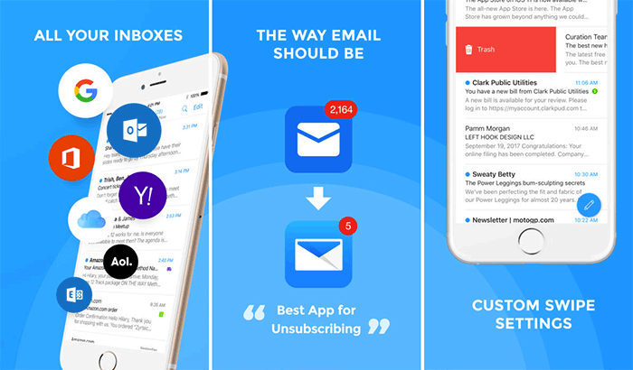Email- Fast & Secure mail iPhone and iPad App Screenshot