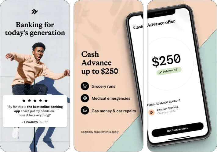 Empower Cash Advance Banking iPhone App